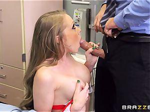 dirty nurse Shawna Lenee tears up a docs immense pecker