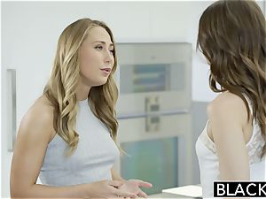 Riley Reid and Carter Cruise sate dark-hued sausage together