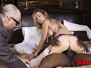blond bride Zoey Monroe taking a crevice ample boner