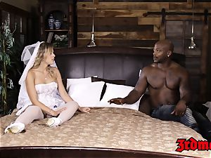 blond bride Zoey Monroe taking a crevice ample boner