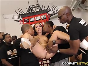 Gabriella Paltrova inhales black penises