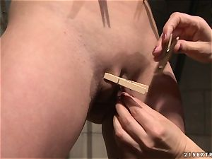Katy Borman get her stunning bare body clamped