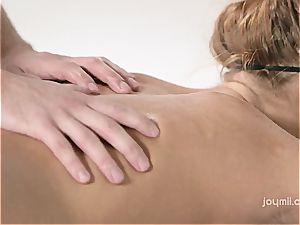 Chrissy Fox gets a voluptuous stiffy massage