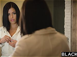 BLACKED dark-haired Adriana Chechik Takes three of BBCs