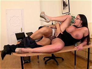 cougar Emma bootie wearing glasses
