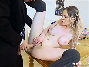 stunning college girl Carly Rae gets pummeled by a large dicked schoolteacher