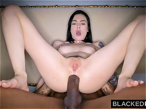 BLACKEDRAW Canadian girlfriend takes ample big black cock in her bum