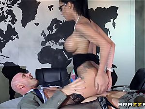 giant breasted Peta Jensen porked throughout the boardroom table