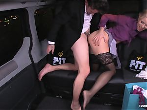 porked IN TRAFFIC - Christmas car fuckfest with Swedish babe