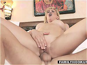 FamilyHookups - molten towheaded Stepmom pulverizes Her Stepson