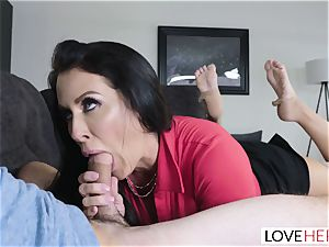 LoveHerFeet - Stepson tears up His Stepmom On The couch
