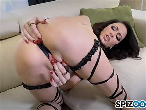 super-naughty Jessica Jaymes slips a fuck stick in her humid minge