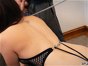Spizoo-Pet honey Chanel Preston is disciplined by two weenies