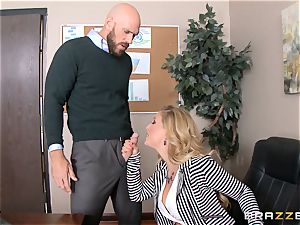 milf boss Cherie Deville gets shafted by a ample dicked employee