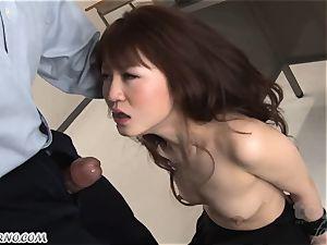 bondage & discipline. rigorous chinese daddy penalizes his daughter-in-law Sakamoto Hikari