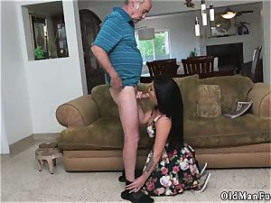 woman and senior teenager gobble rump first-ever time Frannkie s a fast learner!