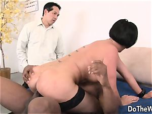 milf fucked by a black boy in front of her hubby
