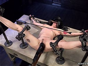 Alt huge-boobed sub in instrument restrain bondage anal invasion