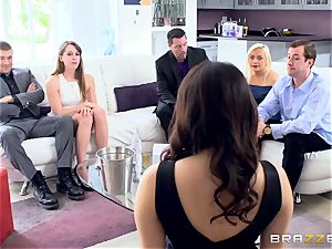 crazy dark-haired Valentina Nappi double porked nads deep