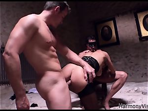 naughty cockslut gets her crevasses boned hard in a 3some