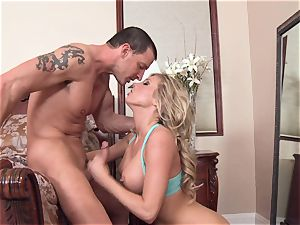 naughty Samantha Saint is loving her man's flog inserted in her delicious mouth