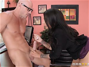 manager Lela Starr gets hold of her colleague's big knob