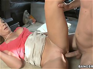 Mature light-haired romping on the BangBus