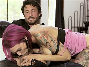 tatted Sn 4 Anna Bell Peaks spooned in her moist hole