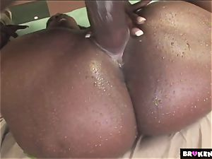 BrokenTeens big black cock meaty booties and magic drizzle