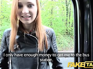 faux taxi slim red-haired enjoys harsh fuckfest