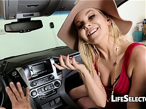 chatty milf Aaliyah enjoy gives a oral pleasure in your car