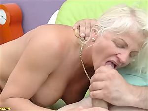 cool 73 years older mommy first-ever huge pipe assfuck nail