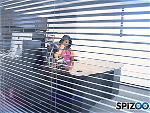 Romi Rain has a nice office surprise for her stud