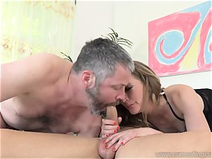 Mona Wales Turns Her hubby Into perfect manhood cockblower