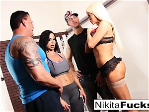 Nikita Von James joins a workout fuck-fest