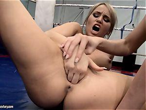 Aleksa Diamond and Larissa Dee tickle their classy