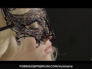 xCHIMERA - inked Misha Cross loves fetish threeway