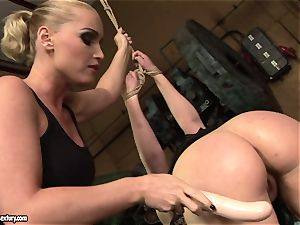 Kathia Nobili fake penis drill the culo of her friend