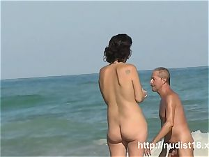 Public beach nudeist nymph voyeur vid