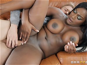 Danny D catapults his man sausage into ebony sweetie
