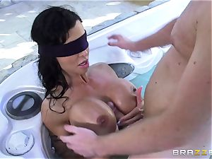 OMG! I penetrated my finest friend's buxom nasty mommy pleasure buttons Jade