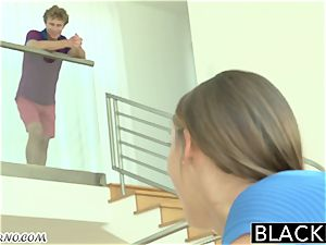 My hubby hotwife # 4 young ash-blonde has orgy with a black neighbor
