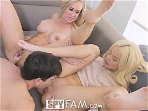 SpyFam Step mom Brandi enjoy gives Elsa Jean fuckfest advice