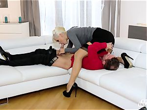 super-naughty INLAWS - Stepmom penetrates stepdaughter's bf