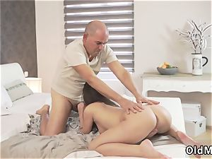 Christmas father and senior couple climax Her raw wish