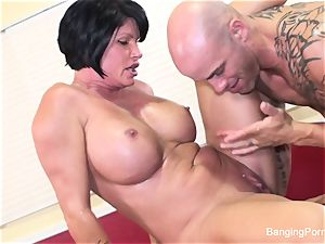 Mature pornographic star gets torn up