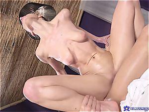 oiled up damsel gets her innate lovelies slammed