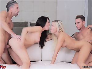 Swingers encounter with tiny whim
