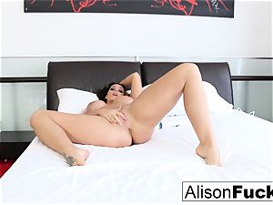Alison Tyler teases with her vibrator