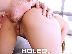 HOLED Lena Paul ass fucking poked and facial cumshot in LA pad